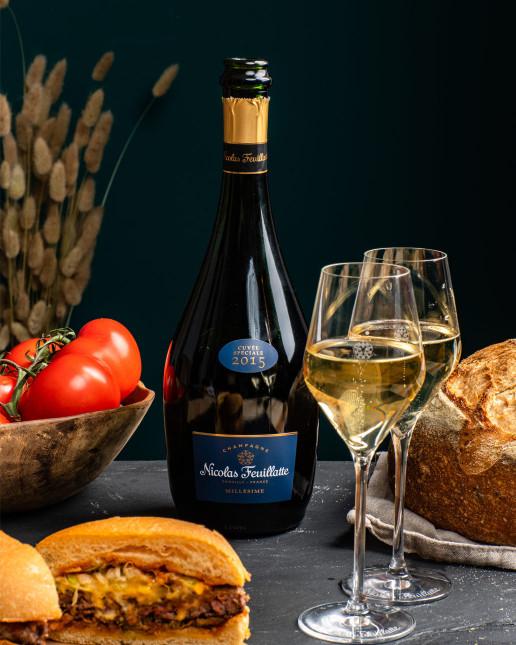 Nicolas Feuillatte Cuvée Spéciale Millésime 2015 - Accord Burger