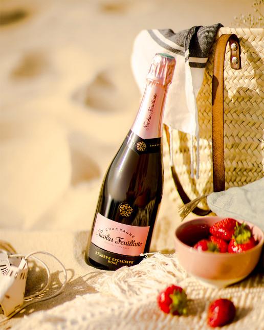 Nicolas Feuillatte Réserve Exclusive Rosé - A la plage avec quelques fruits rouges