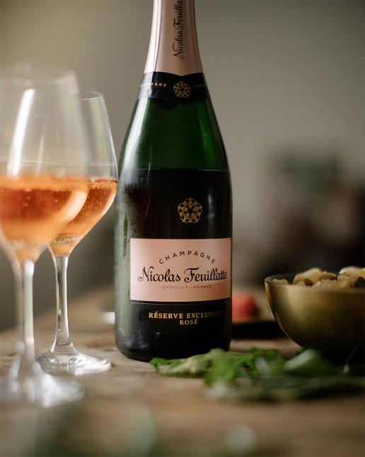 Nicolas Feuillatte Réserve Exclusive Rosé - préparation du repas